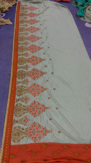 patli-pallu concept half-half saree