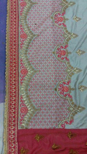 pallu Skirt lace – half half concept