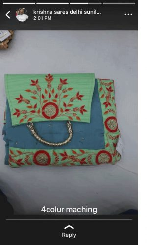 boder concept packing saree with purse