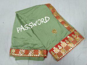 papar work saree