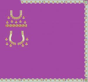 border concept saree with blouse