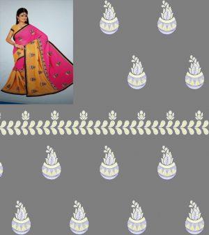 cut pest concept half-half saree