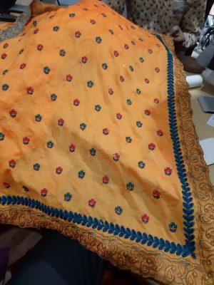 c pallu , packing saree