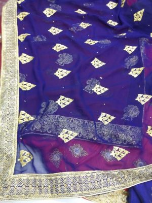 butta concept , single jari , packing , diamond test saree