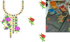 neck with duppata design