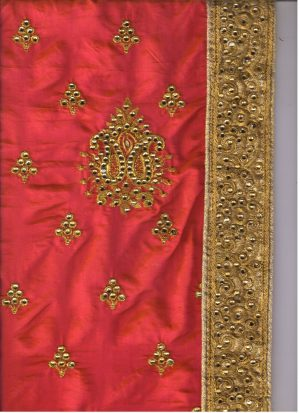 single jari lace butta concept packing saree