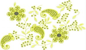 All over garment Embroidery Design