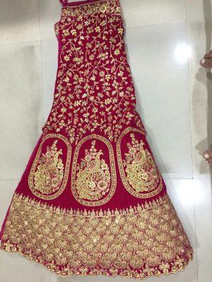 figure concept , bridal lehenga