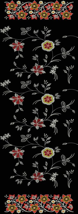 Duppata Embroidery Design