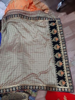 border concept , packing saree