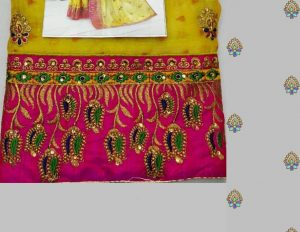 cut-pest saree
