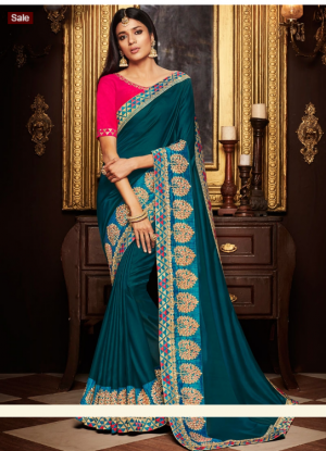 Traditional Saree Design With Blouse