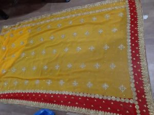 c pallu , packing , diamond test cut-peast saree