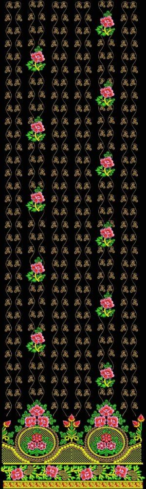 jaal Daman Top Embroidery Design