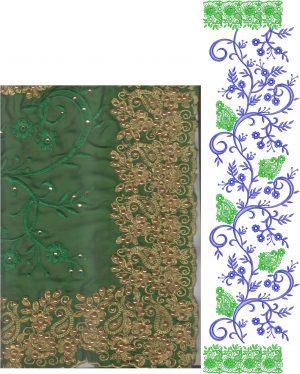 ton to ton jaal concept c-pallu saree