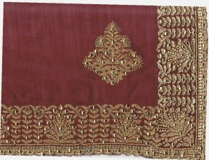 single jari c-pallu concept cut-work saree