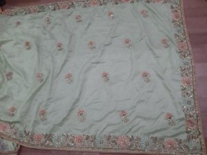 c pallu , packing saree
