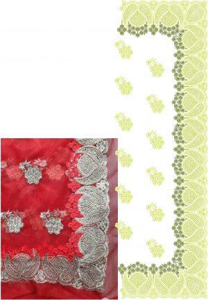 ton to ton c-pallu cut-work saree