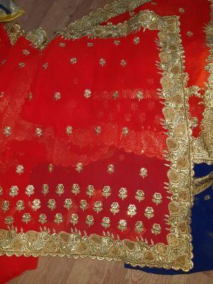 c pallu , cut-work saree