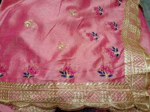 C Pallu cut-work saree