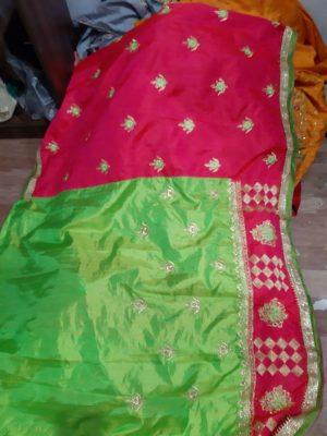 half half , cut-pest concept saree