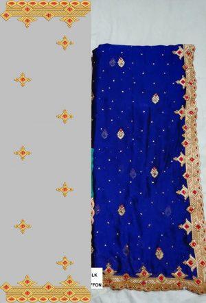 foam c-pallu concept cut-work saree