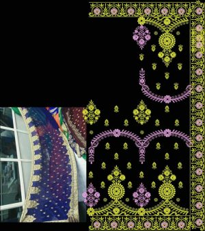 ton to ton saree (only concept design saree)