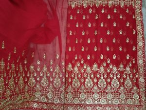 marun tast Single JAri panel saree Design