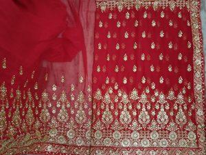 marun tast Single JAri panel saree Design