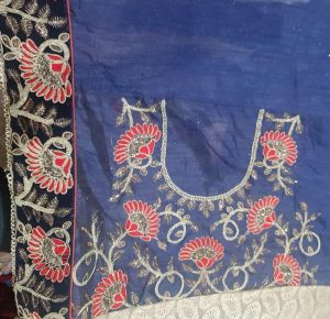 blouse with lace saree