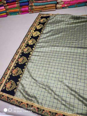cut -peast border concept , packing saree