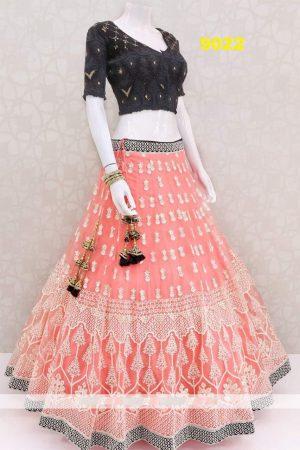 cotton thread concept garlish lehenga
