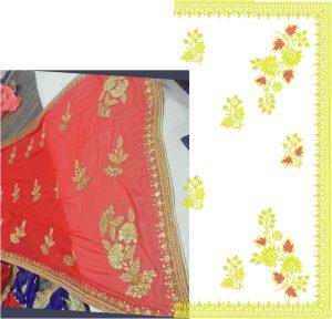 box pallu , diamond test saree