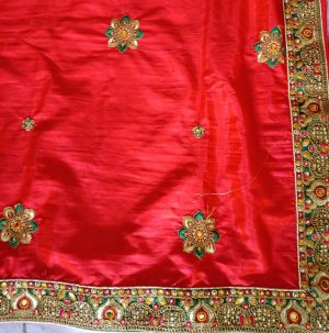 lace butta concept packing saree