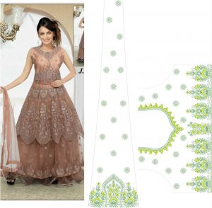 New Fancy anarkali Gown (only concept design)
