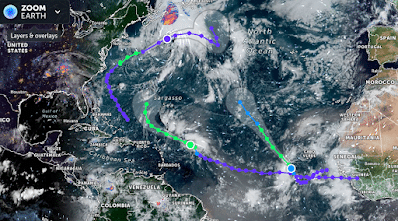 Tropical Storm Peter Forms. TD 17 Joins the Tropical Party. Kind of Like a Conga Line………