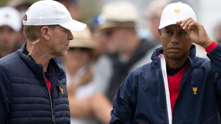 Recovering Tiger Woods won't be with Steve Stricker's Ryder Cup team, but legend is 'progressing'