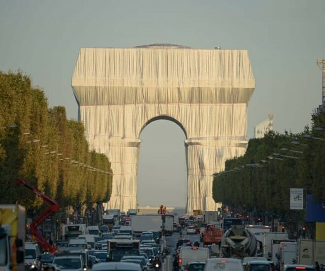 France's Arc De Triomphe Wrapped in Fabric