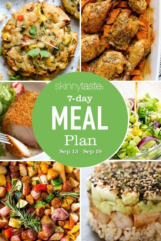 7 Day Healthy Meal Plan (September 13-19)