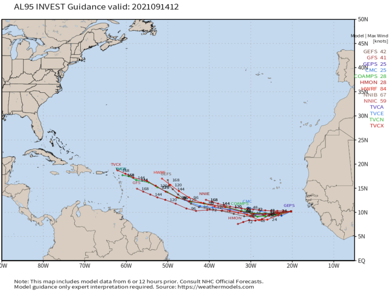 TROPICAL STORM NICHOLAS / INVEST 96L / INVEST 95L FORECAST SYNOPSIS…ISSUED SEP. 14, 2021…2:45 P.M. EDT