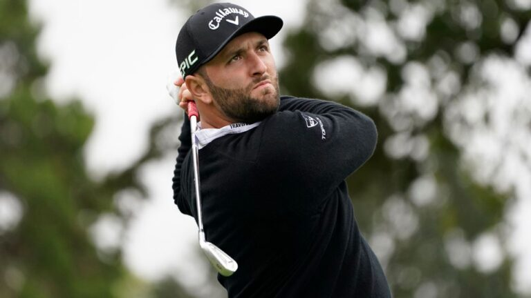 Ailing Jon Rahm falls behind after first round at Fortinet Championship