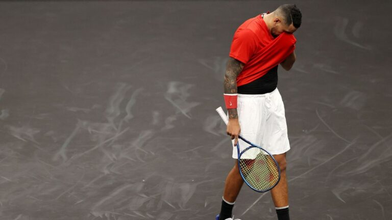 Nick Kyrgios falls to Stefanos Tsitsipas, says he's likely done with Laver Cup