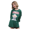 Summer wear new - style old - style letter iron ring loose seven - minute sleeve T - shirt
