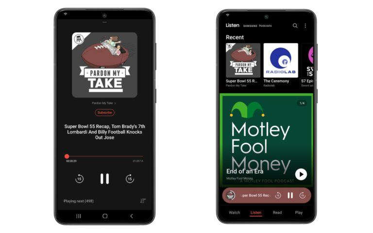 Samsung adds a podcast section to its free-entertainment app
