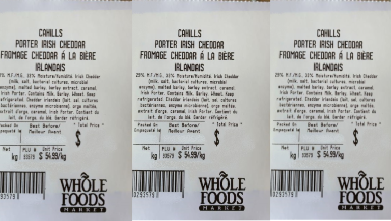 Whole Foods Market in Canada recalls Cahills brand Porter Irish Cheddar over Listeria concerns