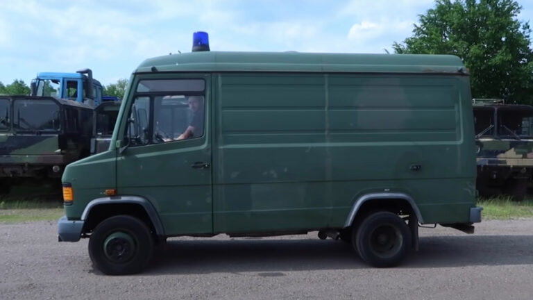 Old German Army Ambulance Converted To RV (Mercedes 609)