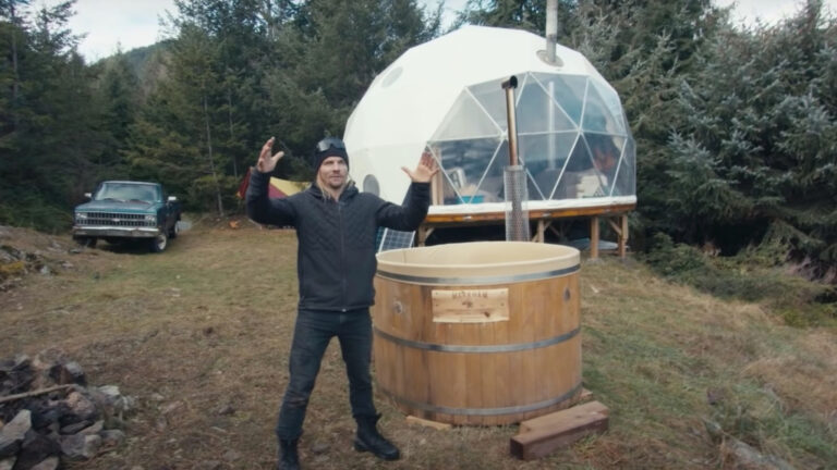 Pro Skiers Living Off-Grid In Geodesic Dome