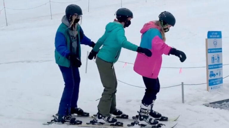 Would You Ride Triple Skis With Your Two Best Friends?