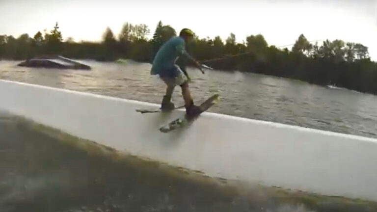 Have You Ever Heard of Wake-Skiing?