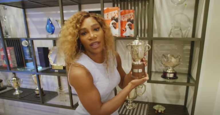 Serena Williams showed off her home, and realized she has too many trophies to remember them all